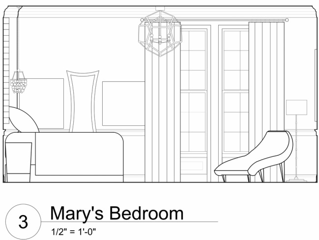 Front Elevation Of Living Room : Room elevation drawings